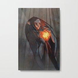 October Fairy Metal Print