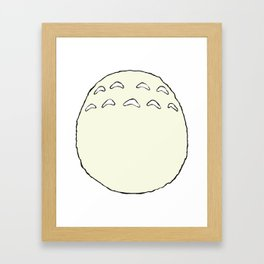 Totoro's Belly Framed Art Print