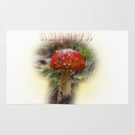 Mushroom Amanita muscaria Rug
