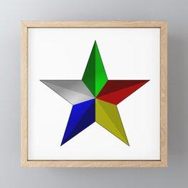 Durze Star  Framed Mini Art Print