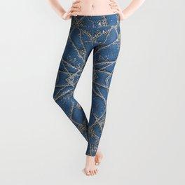 Snowflake Blue Leggings
