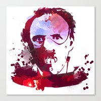 hannibal Canvas Prints featuring Hannibal by BIG Colours