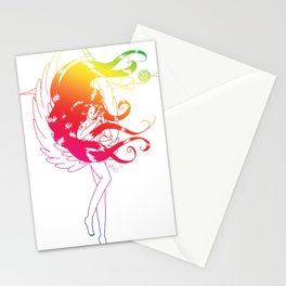 Rainbow Naraku - White Stationery Cards