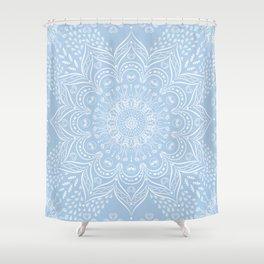 Baby Blue Boho Mandala Shower Curtain