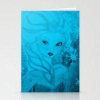 frozen elsa Stationery Cards featuring Frozen Elsa by ALynnArts