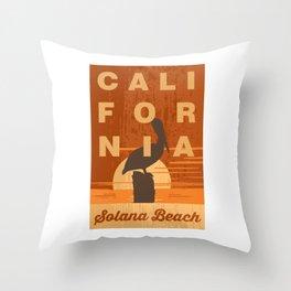 Solana Beach. Throw Pillow