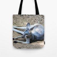 kangaroo Tote Bags featuring Kangaroo by Veronika