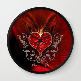 Wonderful heart with wings Wall Clock