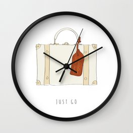 Just Go - Adventure Suitcase Wall Clock