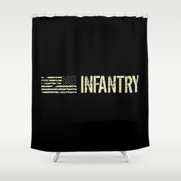 U.S. Military: Infantry Shower Curtain