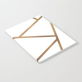 White and Gold Fragments - Geometric Design Notebook