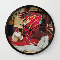 tv Wall Clocks featuring Television by Lerson