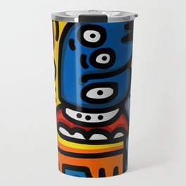 Black Maya Street Art Graffiti Inspired Travel Mug