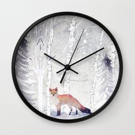 FOX FOX FOX Wall Clock