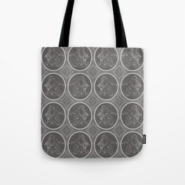 Grisaille Charcoal Grey Neo-Classical Ovals Tote Bag