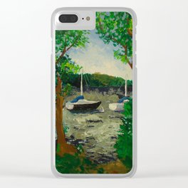 Lake Landscape Clear iPhone Case