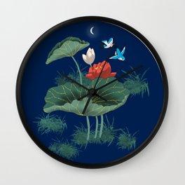 Luminescent Garden Wall Clock