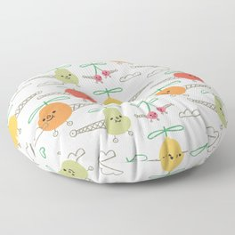 Fruits Helicopter Floor Pillow