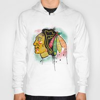 blackhawks Hoodies featuring chicago blackhawks hockey by abstract sports