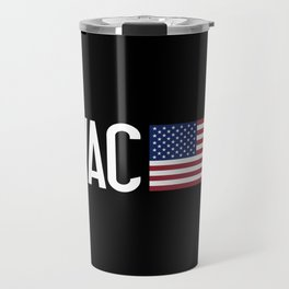 HVAC: HVAC & American Flag Travel Mug