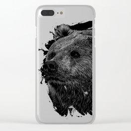 Black bear Clear iPhone Case