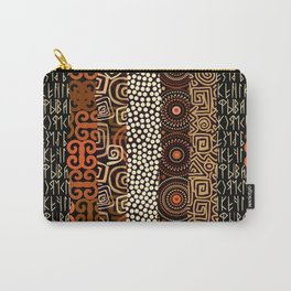 Geometric African Pattern Carry-All Pouch