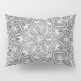 Gray Center Swirl Mandala Pillow Sham