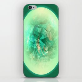 Chrystal Glow Green Abstract iPhone Skin