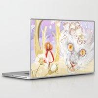 cheshire cat Laptop & iPad Skins featuring Cheshire Cat by Pavlo Tereshin