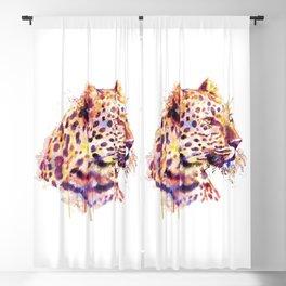 Leopard Head Blackout Curtain