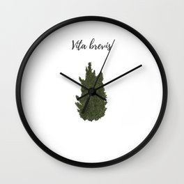 Life is short: vita brevis Wall Clock