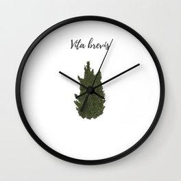 Life is short: vita brevis Wall Clock