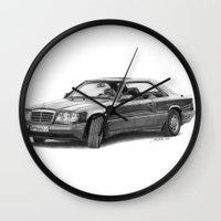 mercedes Wall Clocks featuring Mercedes-Benz E-Class Coupe by Gábor Vida