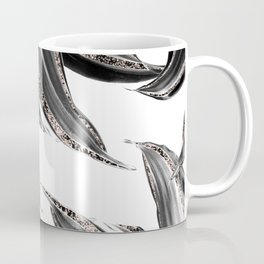 Tropical Leaves with Rose Gold Glitter #1 #shiny #tropical #decor #art #society6 Coffee Mug