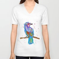 coco V-neck T-shirts featuring coco by Laurie Art Gallery