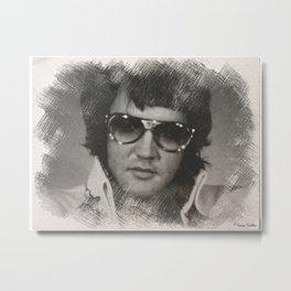 Elvis Presley Sketch 2 Metal Print