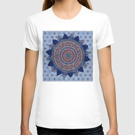 Baroque Lapis Mandala T-shirt