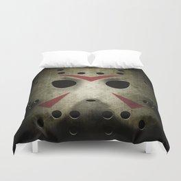 Slasher Hockey Mask Duvet Cover