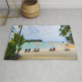 A Dreamy Day at a Tahitian Beach, Bora Bora Rug