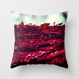 Red Wall Throw Pillow