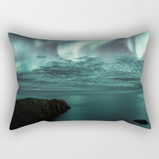 Aurora Borealis II Rectangular Pillow