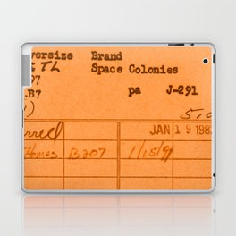 Library Card 797 Orange Laptop & iPad Skin
