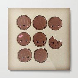 Choco-Patty Round Up Metal Print