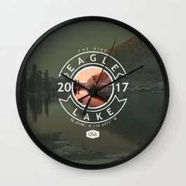 Eagle Lake Hike Wall Clock