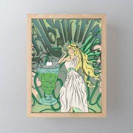 Art Nouveau Absinthe Poster Framed Mini Art Print