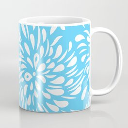 DAHLIA FLOWER RAIN DROPS TEAR DROPS SWIRLS PATTERN Coffee Mug