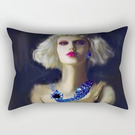 The Girl With The Blue Earring Rectangular Pillow
