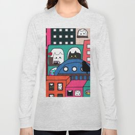 cat and owl apartment 213 Long Sleeve T-shirt