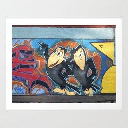 graffiti art heckle and jeckle cartoon characters comic zollione store Art Print