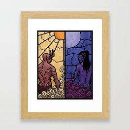 Forbidden love Framed Art Print